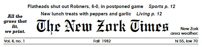 The New Zork Times