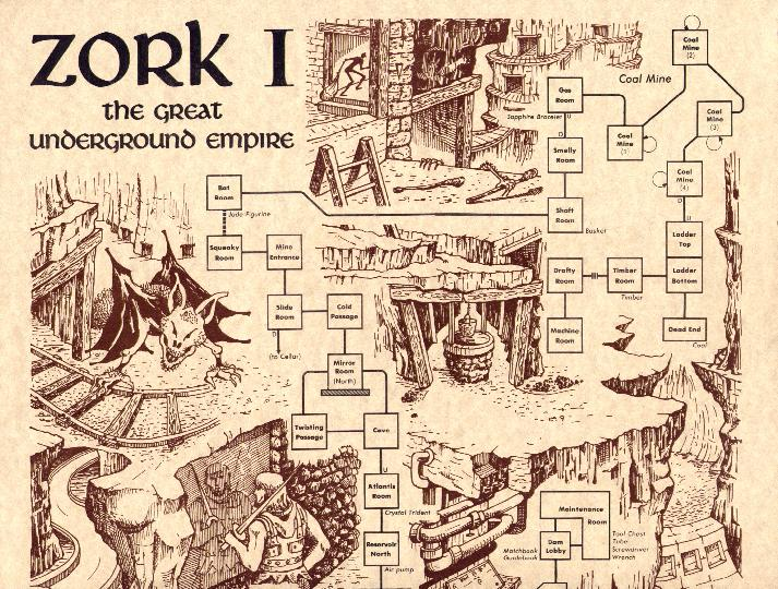 Sengoonkon Sopo Map Of Zork 1